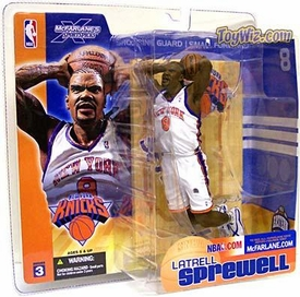 McFarlane Toys NBA Sports Picks Series 3 Action Figure Latrell Sprewell (New York Knicks) White Jersey