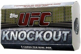 Topps UFC Ultimate Fighting Championship 2010 Knockout Trading Card Pack [1 Autograph OR Memorabilia Card In Every Mini-Box Pack!]