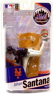McFarlane Toys MLB Sports Picks 2010 New York Mets Action Figure Johan Santana Black Jersey