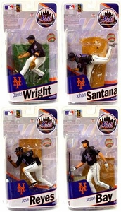 McFarlane Toys MLB Sports Picks 2010 Set of 4 New York Mets Action Figures [Jason Bay, Johan Santana, Jose Reyes & David Wright]