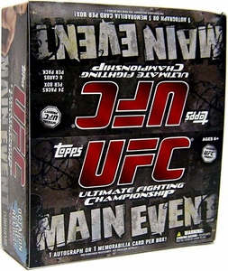 Topps UFC Ultimate Fighting Championship Main Event RETAIL EDITION Trading Card Box [24 Packs] BLOWOUT SALE!