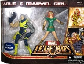 Marvel Legends Exclusive Action Figure 2-Pack Cable & Marvel Girl