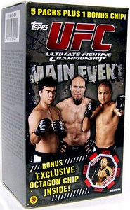 Topps UFC Ultimate Fighting Championship Main Event VALUE BLASTER Trading Card Box [5 Retail Packs & 1 Octagon Chip]