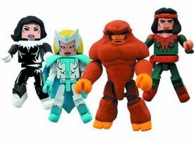 Marvel Minimates Mini FIgure 4-Pack Alpha Flight #2 [Snowbird, Shaman, Sasquatch & Aurora]
