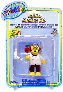 Webkinz Mini PVC Figure Doctor Monkey, MD