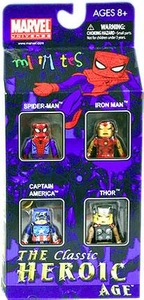 Marvel Minimates Exclusive Mini Figure 4-Pack The Classic Heroic Age [Spider-Man, Iron Man, Captain America & Thor]