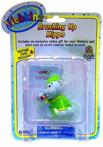 Webkinz Mini PVC Figure Brushing Up Hippo