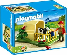 Playmobil Farm Set #5124 Calf Feeder