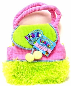 Webkinz Plush Accessory Pink Purse with Green Fur