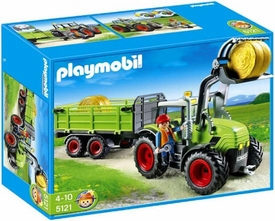 Playmobil Farm Set #5121 Hay Baler with Trailer
