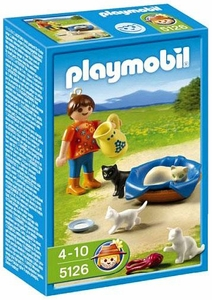 Playmobil Farm Set #5126 Girl with Cats and Kittens