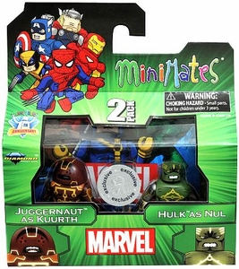 Marvel Minimates Exclusive Mini Figure 2-Pack Juggernaut as Kuurth & Hulk as Nul