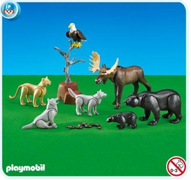 Playmobil Farm Set #7530 North American Forest Animals