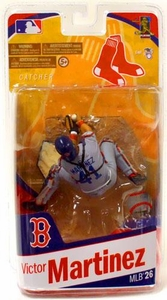 McFarlane Toys MLB Sports Picks Series 26 Action Figure Victor Martinez (Boston Red Sox) Grey Uniform Variant