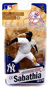 McFarlane Toys MLB Sports Picks Series 26 Action Figure CC Sabathia (New York Yankees) White Jersey