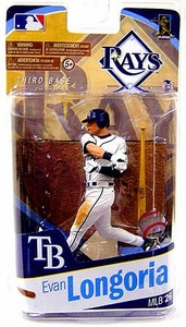 McFarlane Toys MLB Sports Picks Series 26 Action Figure Evan Longoria (Tampa Bay Rays) White Uniform