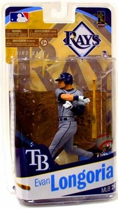 McFarlane Toys MLB Sports Picks Series 26 Action Figure Evan Longoria (Tampa Bay Rays) Grey Uniform Variant