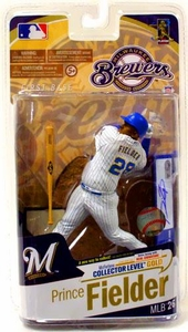 McFarlane Toys MLB Sports Picks Series 26 Action Figure Prince Fielder (Milwaukee Brewers) White Jersey with Signature Gold Collector Level Chase Only 400 Made!