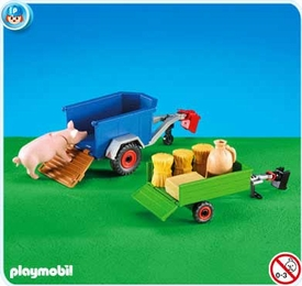 Playmobil Farm Set #7439 2 Trailers