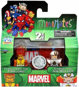 Marvel Minimates Exclusive Mini Figure 2-Pack Pyreus Kril the Firelord & Gabriel the Air-Walker