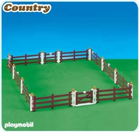Playmobil Farm Set #6255 Fence Extension for Large Horse Farm with Paddock [5221]