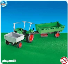 Playmobil Farm Set #6212 Farm Tractor with Trailer