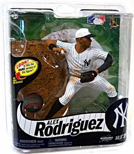 McFarlane Toys MLB Sports Picks Series 29 Action Figure Alex Rodriguez (New York Yankees) July 4th White Hat Silver Collector Level Chase Only 600 Made!