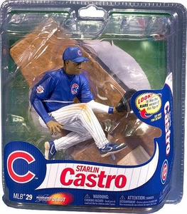 McFarlane Toys MLB Sports Picks Series 29 Action Figure Starlin Castro (Chicago Cubs) Blue Jersey