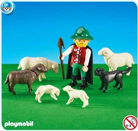 Playmobil Farm Set #6204 Shepherd with Flock of Sheep