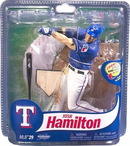 McFarlane Toys MLB Sports Picks Series 29 Action Figure Josh Hamilton (Texas Rangers) Blue Jersey