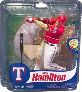McFarlane Toys MLB Sports Picks Series 29 Action Figure Josh Hamilton (Texas Rangers) Red Jersey Gold Collector Level Chase Only 400 Made!