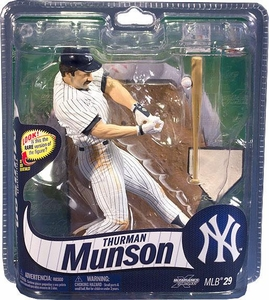 McFarlane Toys MLB Sports Picks Series 29 Action Figure Thurman Munson (New York Yankees) White with Pinstripes Uniform