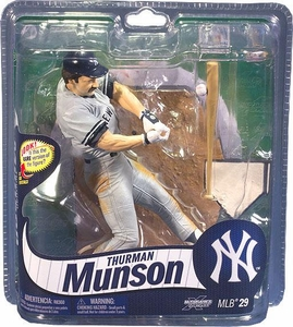 McFarlane Toys MLB Sports Picks Series 29 Action Figure Thurman Munson (New York Yankees) Gray Uniform Bronze Collector Level Chase Only 2,750 Made!