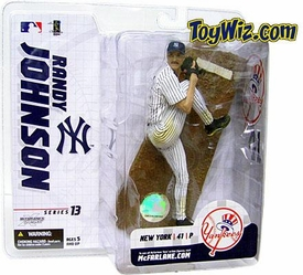 McFarlane Toys MLB  Sports Picks Series 13 Extended Action Figure Randy Johnson (New York Yankees) Pinstripes Jersey