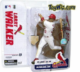 McFarlane Toys MLB Sports Picks Series 13 Extended Action Figure Larry Walker (St. Louis Cardinals) White Jersey