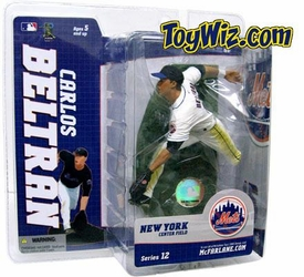 McFarlane Toys MLB Sports Picks Series 12 Action Figure Carlos Beltran (New York Mets) White Jersey Variant
