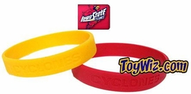 Official NCAA College School Rubber Bracelet IOWA STATE Cyclones [Pink]