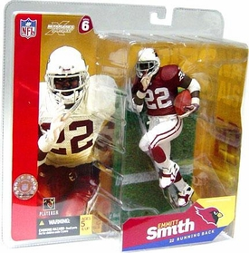 McFarlane Toys NFL Sports Picks Series 6 Action Figure Emmitt Smith (Arizona Cardinals) Red Jersey White Gloves Variant