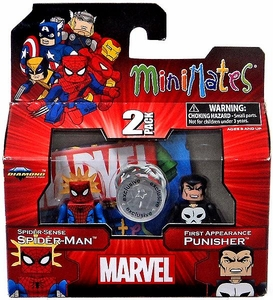 Marvel Minimates Exclusive Mini Figure 2-Pack Spider-Sense Spider-Man & First Appearance Punisher