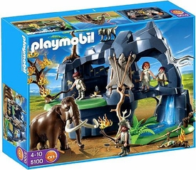 Playmobil Stone Age Set #5100 Stone Age Cave with Mammoth