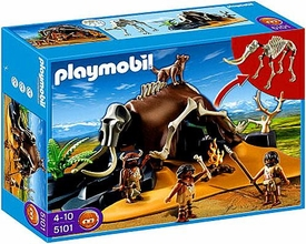 Playmobil Stone Age Set #5101 Mammoth Skeleton Tent with Cavemen