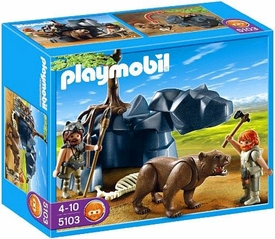 Playmobil Stone Age Set #5103 Bear with Cavemen