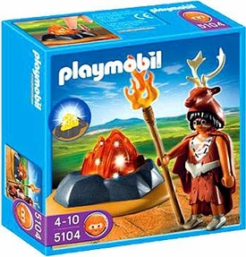 Playmobil Stone Age Set #5104 Fire Guardian with LED Fire