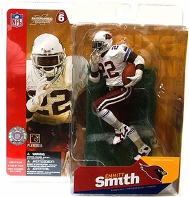 McFarlane Toys NFL Sports Picks Series 6 Action Figure Emmitt Smith (Arizona Cardinals) White Jersey White Gloves