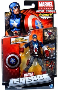 Marvel Legends 2013 Series 1 Action Figure Ultimate Captain America [Build Hit Monkey Piece!]