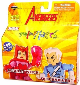 Marvel MiniMates Series 16 Avengers Mini Figure 2-Pack Scarlet Witch & Quicksilver