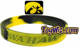 Official NCAA College School Rubber Bracelet IOWA Hawkeyes Marble Color