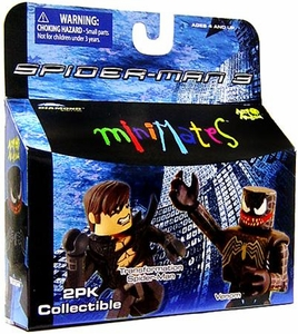 Marvel MiniMates Series 18 Spider-Man 3 Mini Figure 2-Pack Transformation Spider-Man & Venom