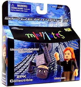 Marvel MiniMates Series 18 Spider-Man 3 Mini Figure 2-Pack Unmasked Black-Suited Spider-Man & Variant Mary Jane