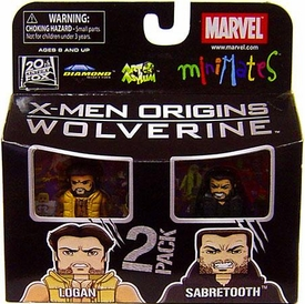 Marvel MiniMates Series 26 Mini Figure 2-Pack Logan & Sabretooth